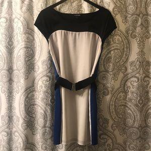 Express Royal Blue & White Dress